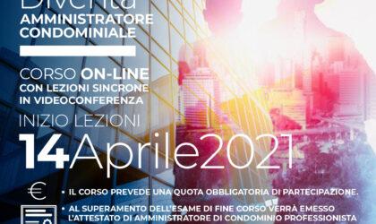 Dal 14 Aprile – Corso Online per diventare AMMINISTRATORE CONDOMINIALE