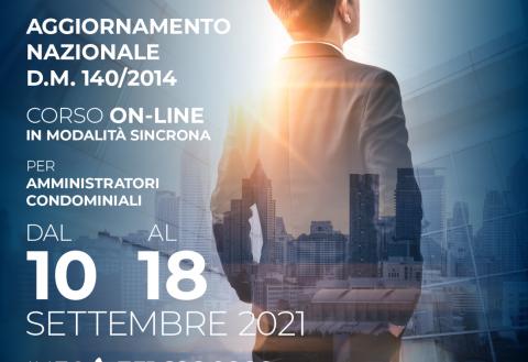 10-18 settembre – Corso online – Aggiornamento nazionale D.M.140
